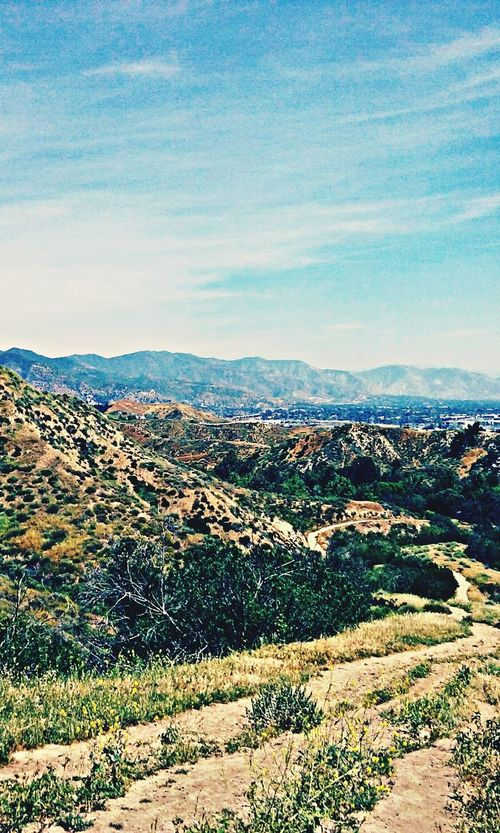 Hiking trail today. Enjoying the views.. Hikingtrail Lovetohike Greatworkout Greatendurance Getitdone Dontstop DontQuit Justdoit✔️ Lovetohike Granadahillsca GranadaHills Greatviews Beautiful Nature