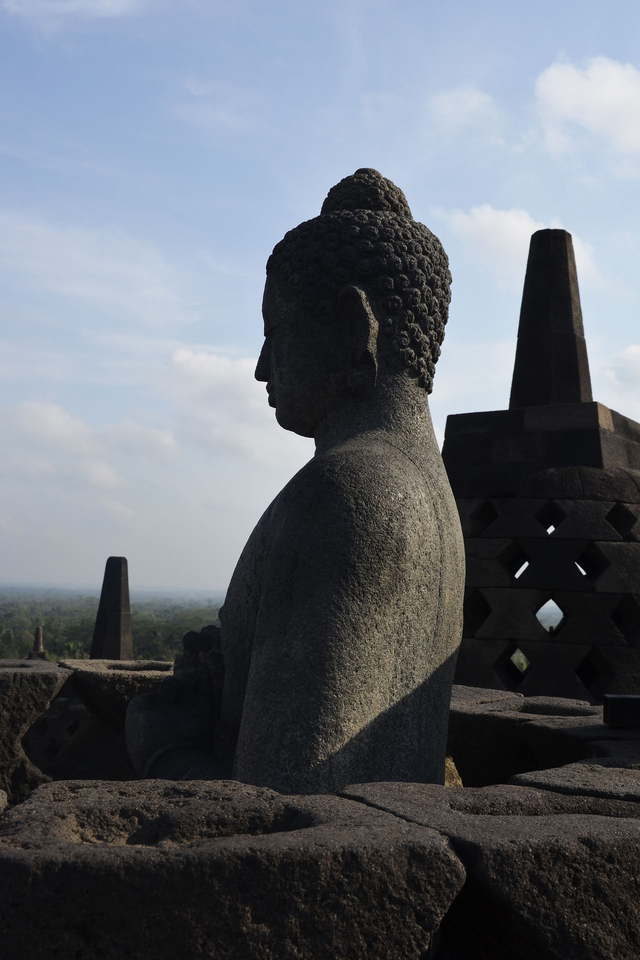 Statue at Borobudur, Indonesia Architecture Buddhism Temple - Building Temple Architecture Sacred Places Praying Landmarks Tranquil Scene Outdoors Scenics EyeEm New Here