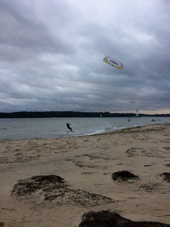 Kitesurfing and Windsurfing , Kiel in the middle of October First Eyeem Photo