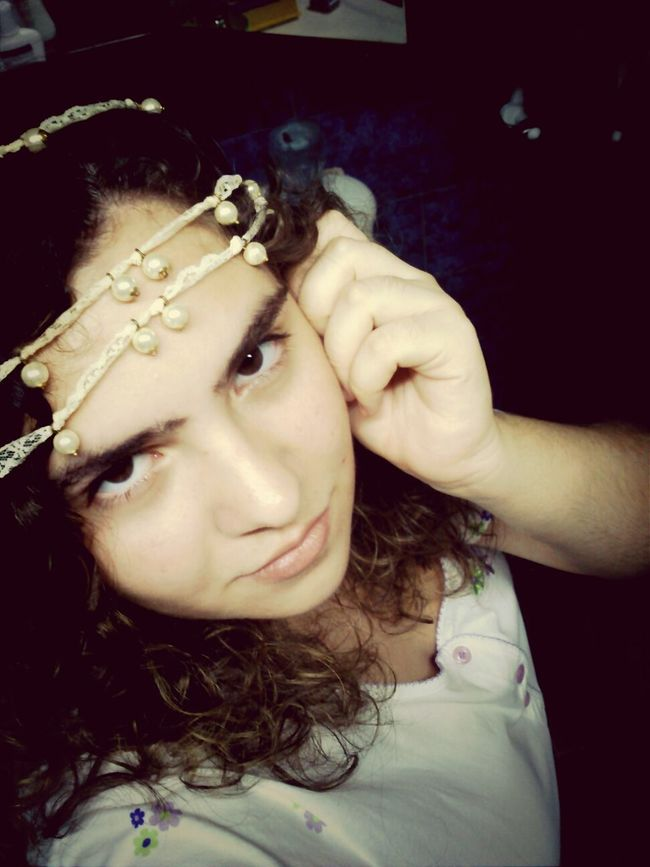 Beautiful Headband Pearls Portrait