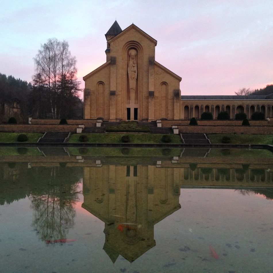 Orval Enjoying Life Hello World Taking Photos First Eyeem Photo Abbaye Morning Light That's Me Reflection Sky Sunlight Peace Lightening No People Colorful