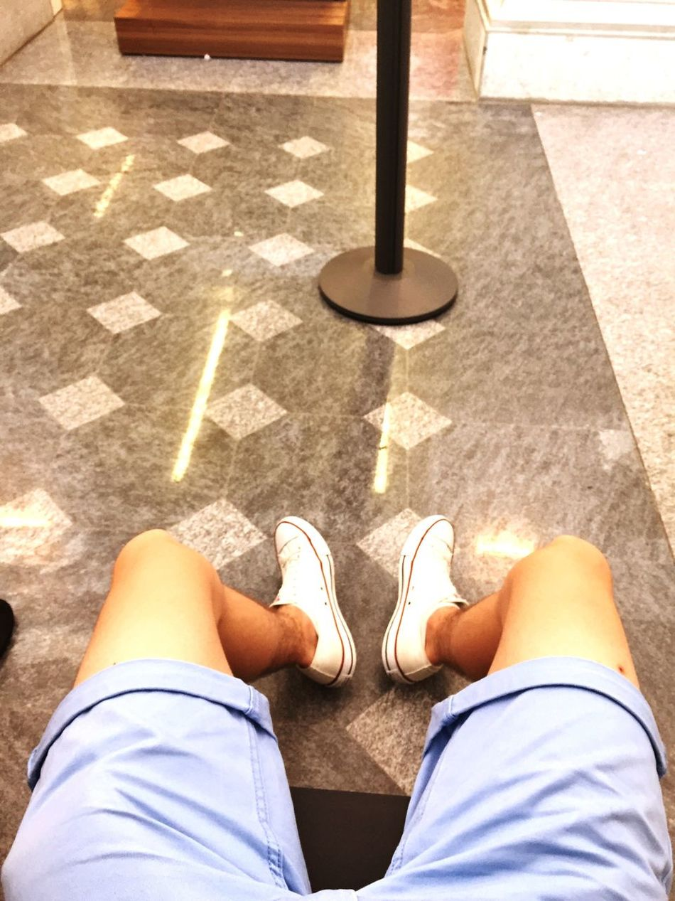 Holiday POV Waiting at Railway Station Summer Converse All Stars