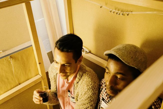 EyeEm San Francisco Happy Hour & Pop-up Exhibition EyeEm San Francisco Popup Exhibition High Angle View Lifestyles Men Young Men