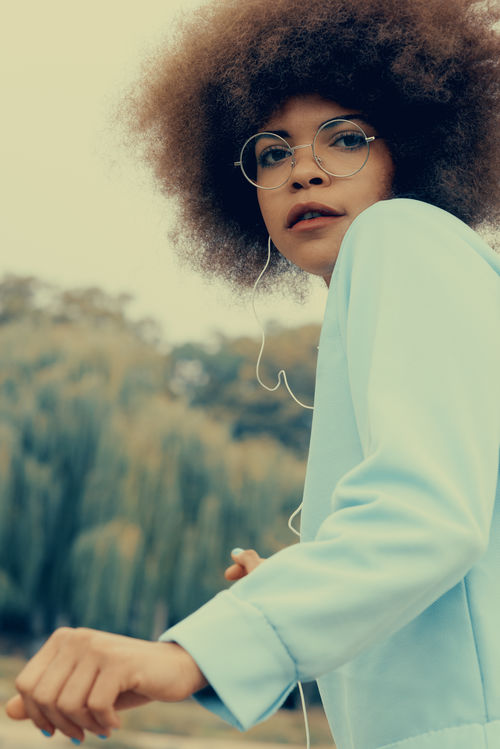 Soulsister Afro Afro American Afrohair Beautiful Woman Dancing Earphones Glasses Hearing Music Lifestyle Mood Music Outdoor Portrait Of A Woman Soul Soulsister USA Young Adult Young Women Women Around The World Art Is Everywhere The Portraitist - 2017 EyeEm Awards