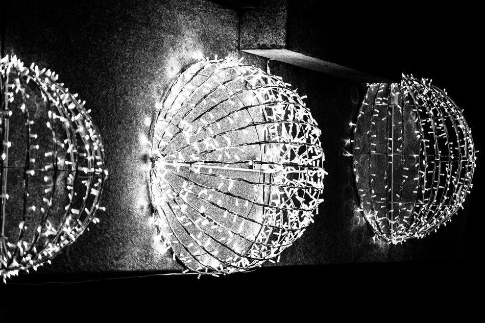 Blackandwhite Christmas Christmas Lights Close-up Concentric Grainy Illuminated Indoors  Night No People