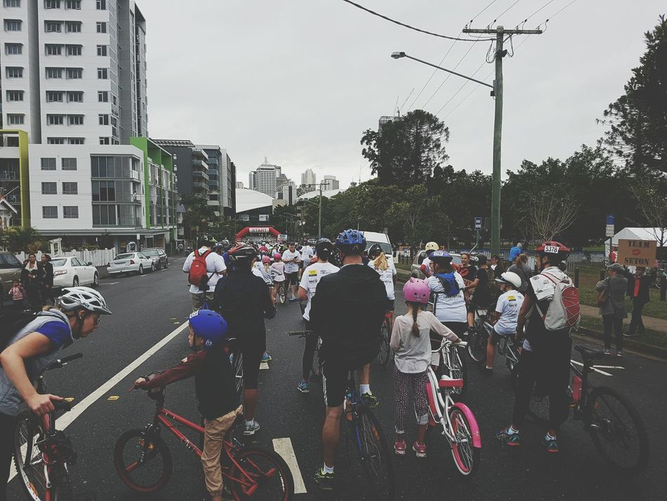 Last week at the start line with many others in order to raise funds for people affected by Multiple Sclerosis Feel The Journey On Yer Bike From My Point Of View Brisbane Blessed