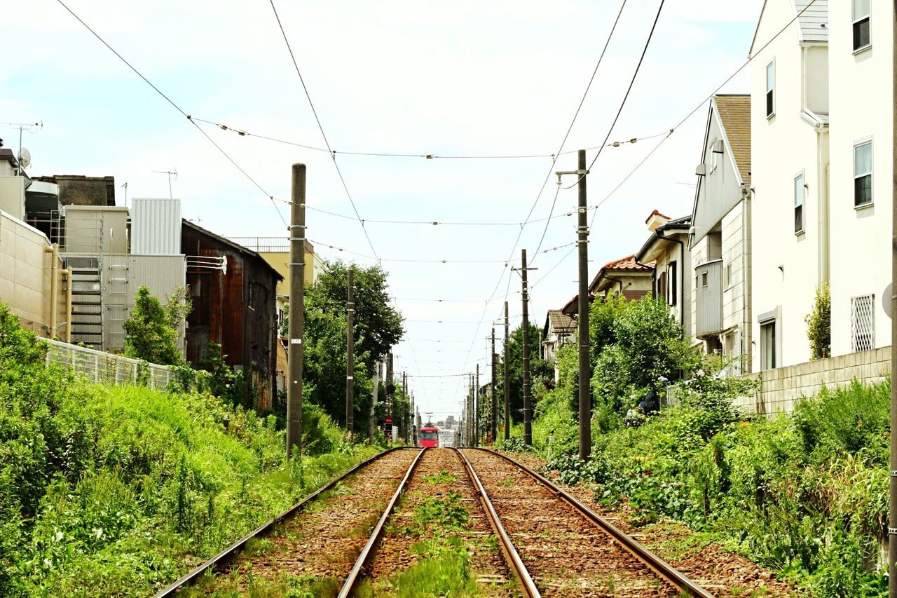 Japan Setagaya Setagaya Line Railroad Railroad Track Rail Transportation Transportation Public Transportation The Way Forward Train Power Lines Diminishing Perspective Railway Track Tree Vanishing Point Cable Sky Day Green Journey Outdoors Power Supply The Journey Is The Destination