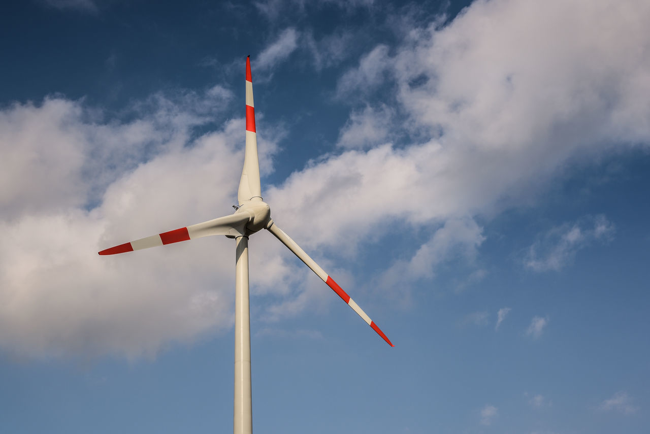 Cloud - Sky Low Angle View Nature No People Outdoors Red Sky Wind Turbine Wind Weel