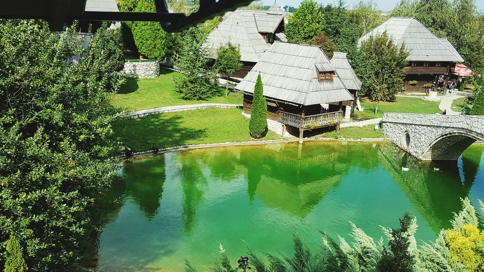 Water Architecture Built Structure House Reflection River Green Color Tranquil Scene Building Exterior Scenics Day Nature Beauty In Nature No People Tranquility Colorful Vibrant Color Relaxing Moments Nature_collection Nature Photography Green Nature ETNO SELO