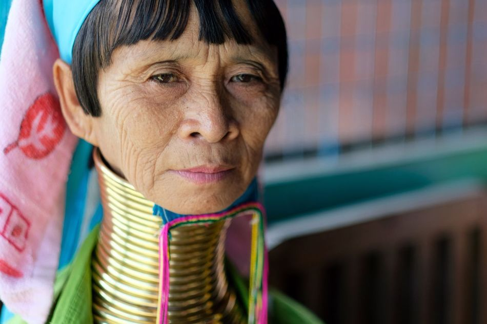 Senior Women Senior Adult One Person Portrait Real People Headshot Looking At Camera Smiling Outdoors Day Close-up Long Neck  Rings Woman Adult Adults Only People Tradition Cultures EyeEm Best Shots EyeEm Gallery Popular Photos Check This Out in Inle Lake , Myanmar