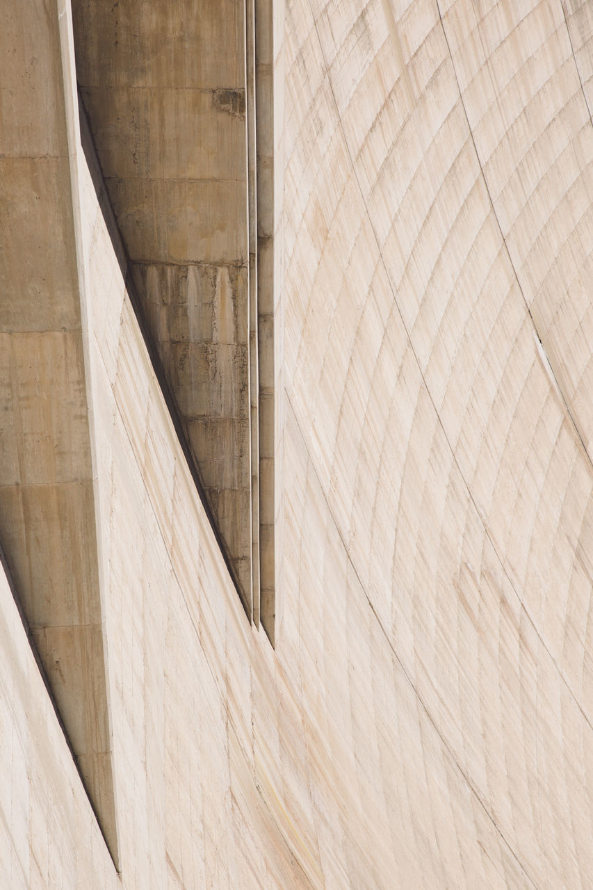 built structure, architecture, dam, modern, hydroelectric power, no people, curve, day, indoors