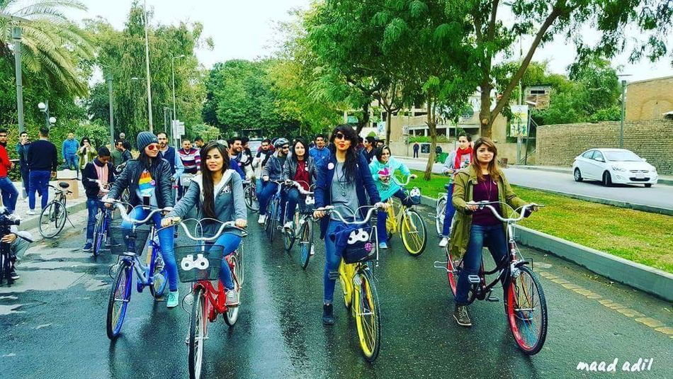 Iraq Iraq Baghdad Iraq . Baghdad Abunas Abu-nawas Iraq Stret Baghdad Streets Baghdadi 🌸 Bicycle Women Lifestyles Outdoors People Real People Large Group Of People Adults Only Cycling Tree Celebration Day Adult Nice Hair  Sexygirl Beautiful Day 🌞🌞🌞🌸🌺🌄 Girls Girl Power Morning Goodmorning :) Good Weather Good Weather ♥ Friendship Sky Adults Only People Girl
