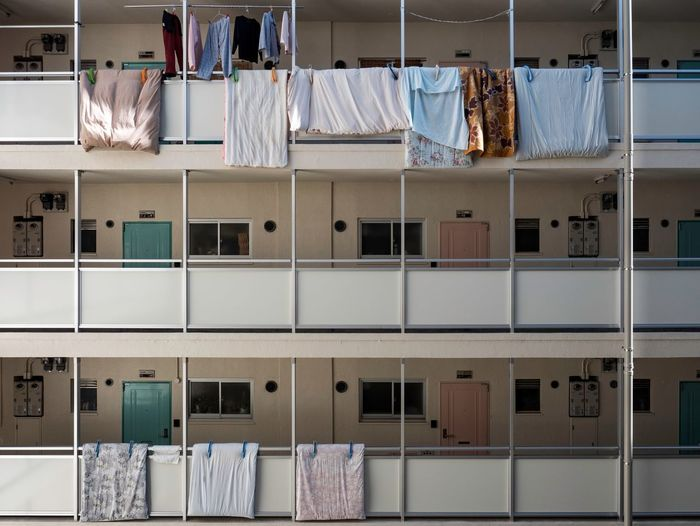 Tokyo Architecture_collection Architectural Column Architecture Clothing Indoors  Shelf Laundry Variation Hanging No People Coathanger Day EyeEmNewHere The Graphic City Colour Your Horizn