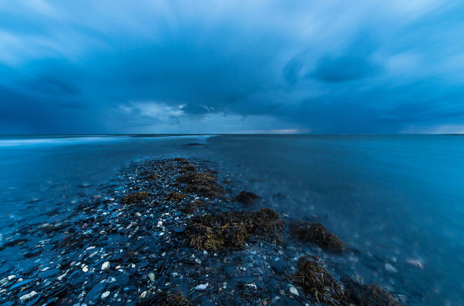 The southern tip of the island Öland in Sweden Bad Weather On Its Way Baltic Sea Beach Blue Cloud - Sky Day Distant Dramatic Sky Horizon Horizon Over Water Landscape Long Exposure Nature No People Northern Europe Outdoors Rain Scandinavia Sea Storm Storm Cloud Summer Sweden Wave Öland