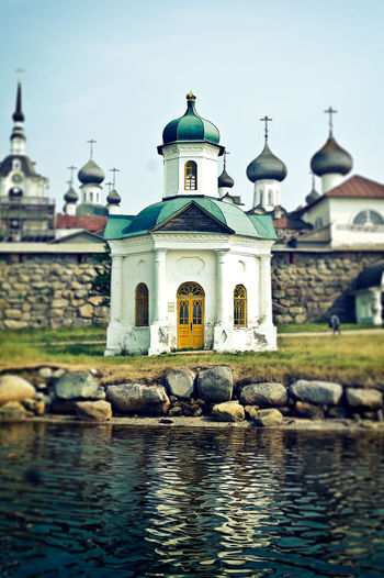 Architecture Chapel Church Church Culture History No People Outdoors Religion River Russia Solovki Spirituality Stone Wall Summer