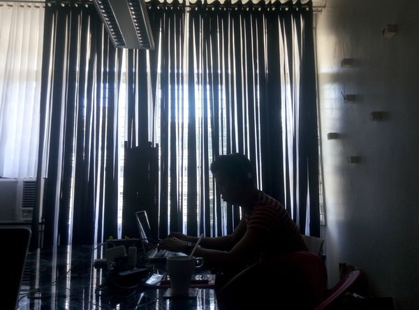 Eyeem Philippines Workplace Silhouette Taking Photos Light And Shadow Vertical Blinds Interior Design Enjoying Life Office View Office Life Office Internship Interior Views