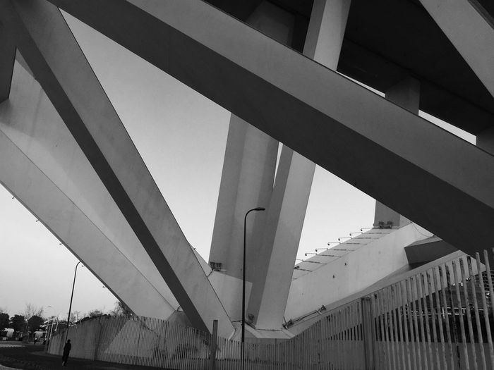 Architecture Bridge IPhoneography Blackandwhite