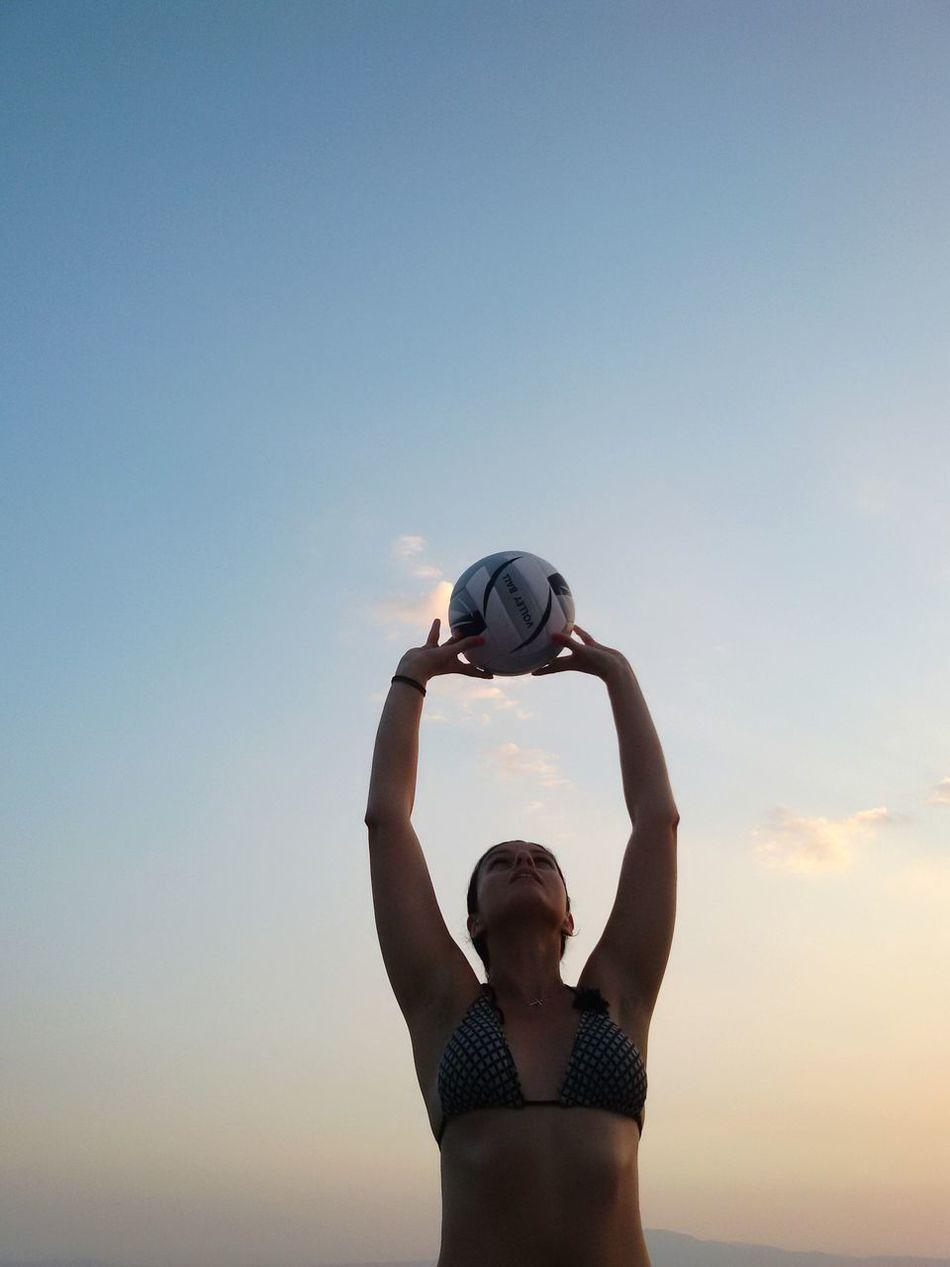 Beautiful stock photos of strand,  35-39 Years,  Arms Raised,  Beach Volleyball,  Bikini