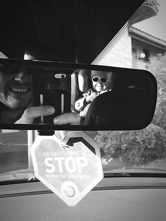 MeinAutomoment That's Me Hello World Cheese! Taking Photos Inthecar Self Portrait Blackandwhite