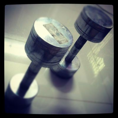 My dumbbells :-D Dumbbell Workout I9003 India photography