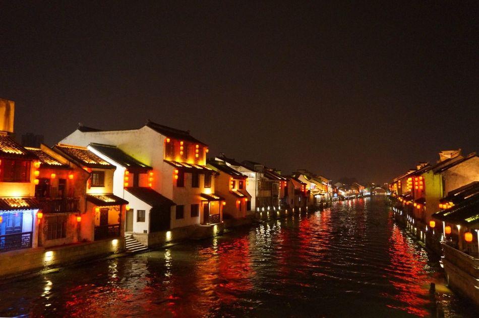 Wuxi Region Of River Water Relaxing Nightphotography Beautiful