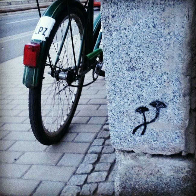 Graffiti Bike Bicycle Leipzig Mushrooms Mushroom Art Streetart Streetartleipzig StreetArtEverywhere Streetart/graffiti