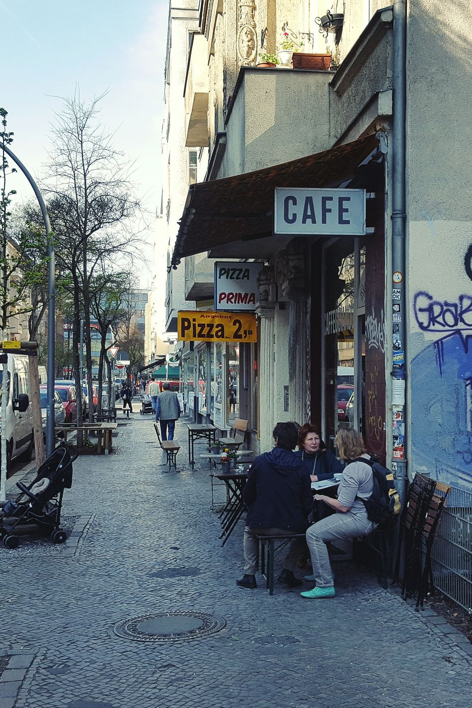 Berlin Neukölln Kaffeepause Anzengruberstrasse