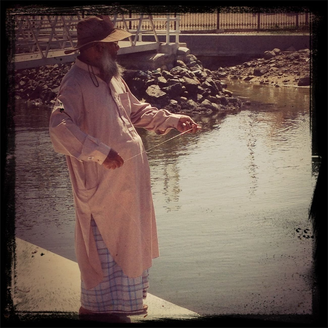 Old Man Fishing @ The Creek