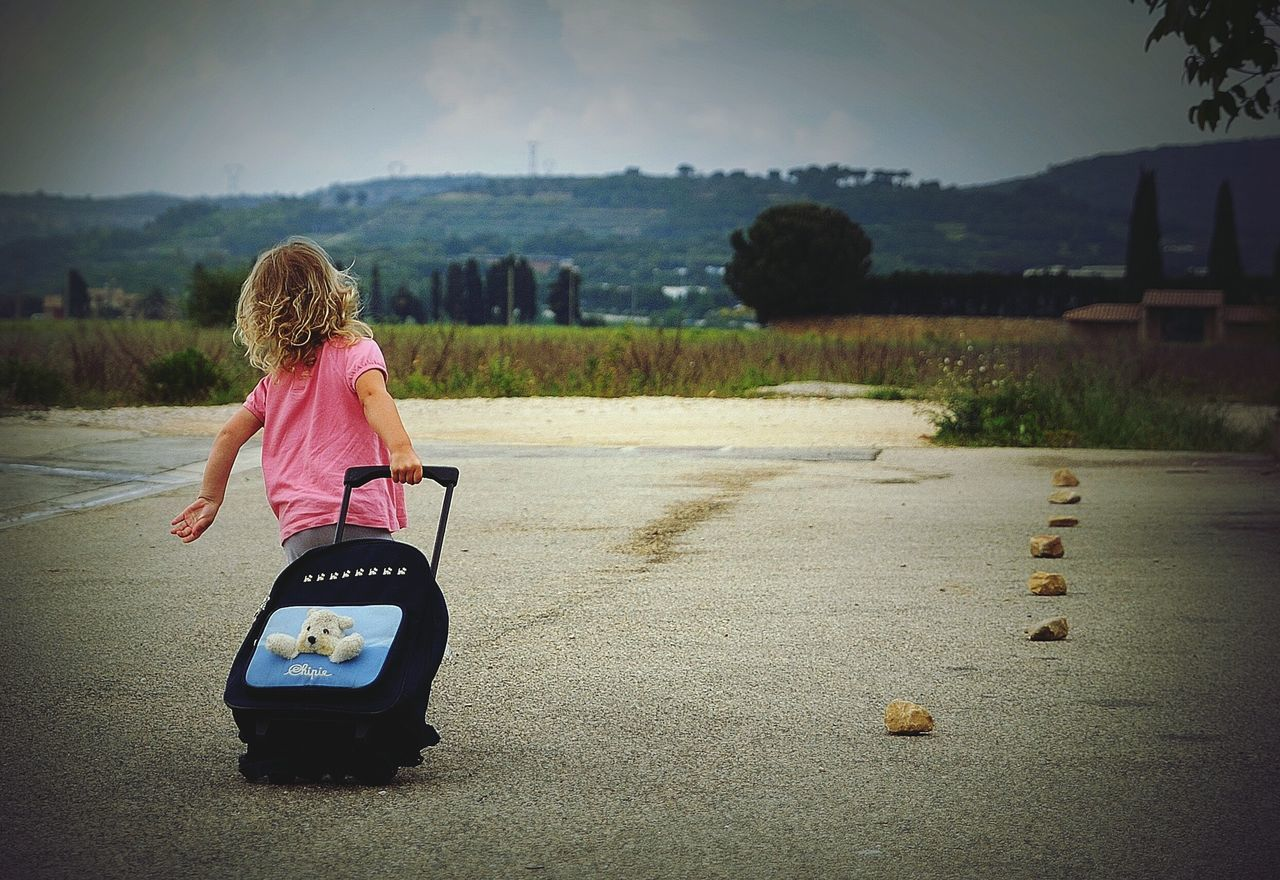 Finding New Frontiers Child One Person Outdoors Go Away EyeEm Gallery