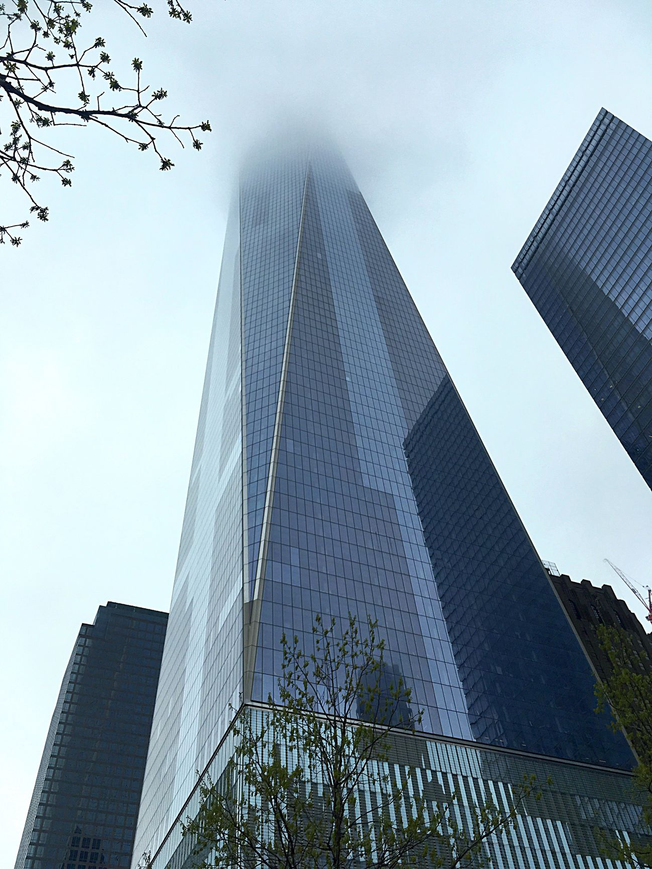 I went to see the Freedom Tower a few days ago, but it was so cloudy I couldn't see the top😅 Modern Skyscraper Freedom Tower New York New York City Manhattan Low Angle View Cloudy Foggy Memorial Streetphotography Followme MyPhotography Check This Out EyeEm Nature Lover My Unique Style Eye4photography  EyeEm EyeEm Gallery EyeEm Best Shots Follow Me No People Follow_me Cityscape Personal Perspective