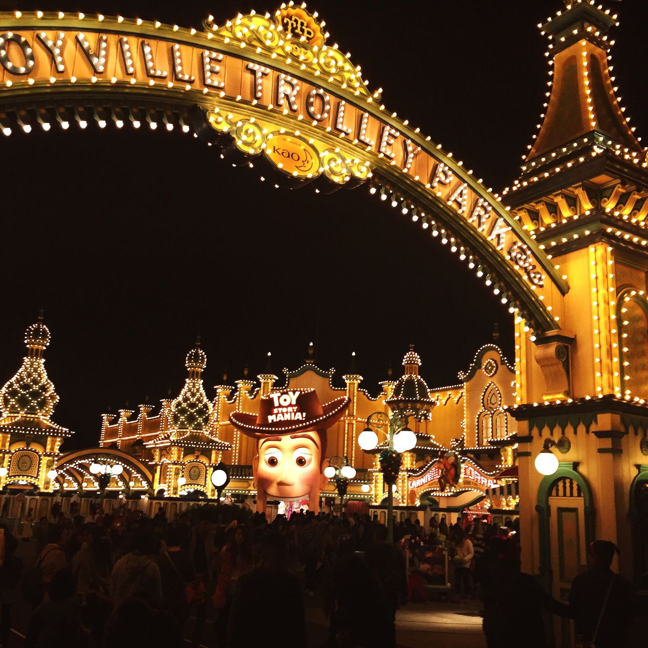 Toystory Illuminated Night Outdoors Disneyland Japan Tokyo Tokyo,Japan Yellow