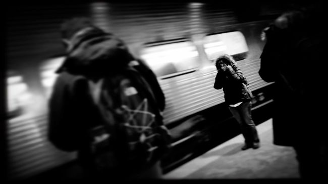 Can you hear me now? No? How about now? What? You'll have to SPEAK UP! WHAT? Commuting Check This Out Photojournalism Documentary Reportage EyeEm Best Shots Eye4photography  EyeEm Gallery Chicago Train Train Station Shootermag Shootermag_usa