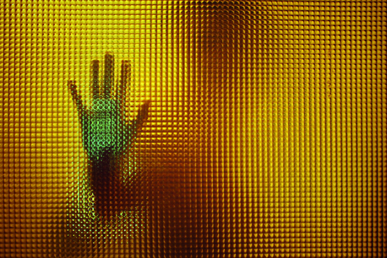 behind glass door showing one hand Doorporn glass glass - material hand human representation Light shadow shillouette Fresh on Market 2017