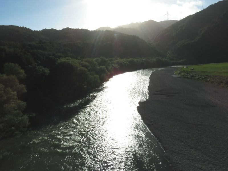 Nature Water Landscape Extreme Weather Beauty In Nature Sunlight Outdoors Accidents And Disasters Sky Tree Environment Sunbeam No People Beauty In Nature Ballance Bridge Manawatugorge New Zealand Scenery Scenic Landscapes Stream - Flowing Water Day Miles Away