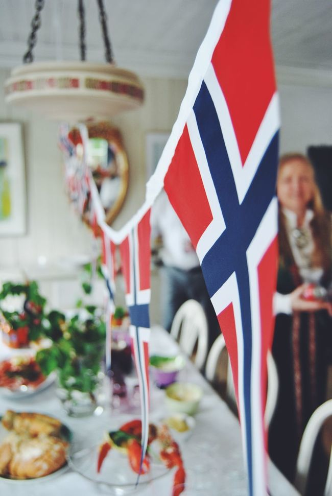 Eating Celebration National Flag Norwegian Flag Norway 17 Mai Norge National Day National Day Celebrations Food Norwegian Food Family Bunadsølv Folklore Bunad Colours Of Life