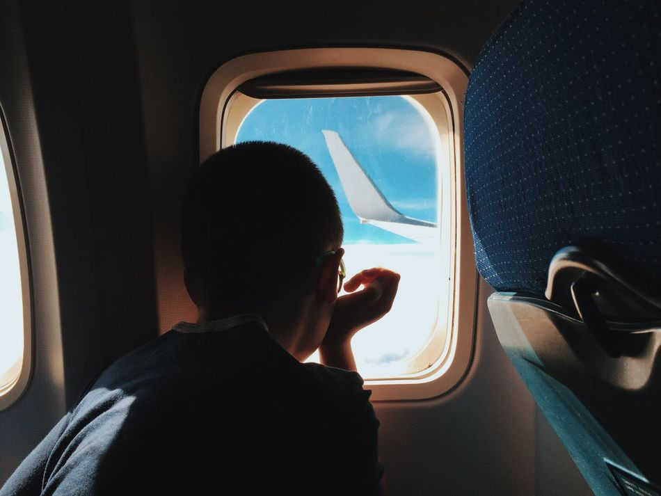 Beautiful stock photos of blue,  12-13 Years,  Airplane,  Airplane Seat,  Childhood