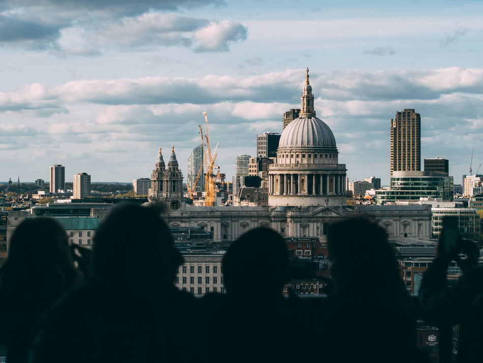 Architecture Building Exterior Built Structure City Cityscape Cloud - Sky Day Dome London Outdoors People Place Of Worship Real People Sky Travel Destinations Urban Skyline