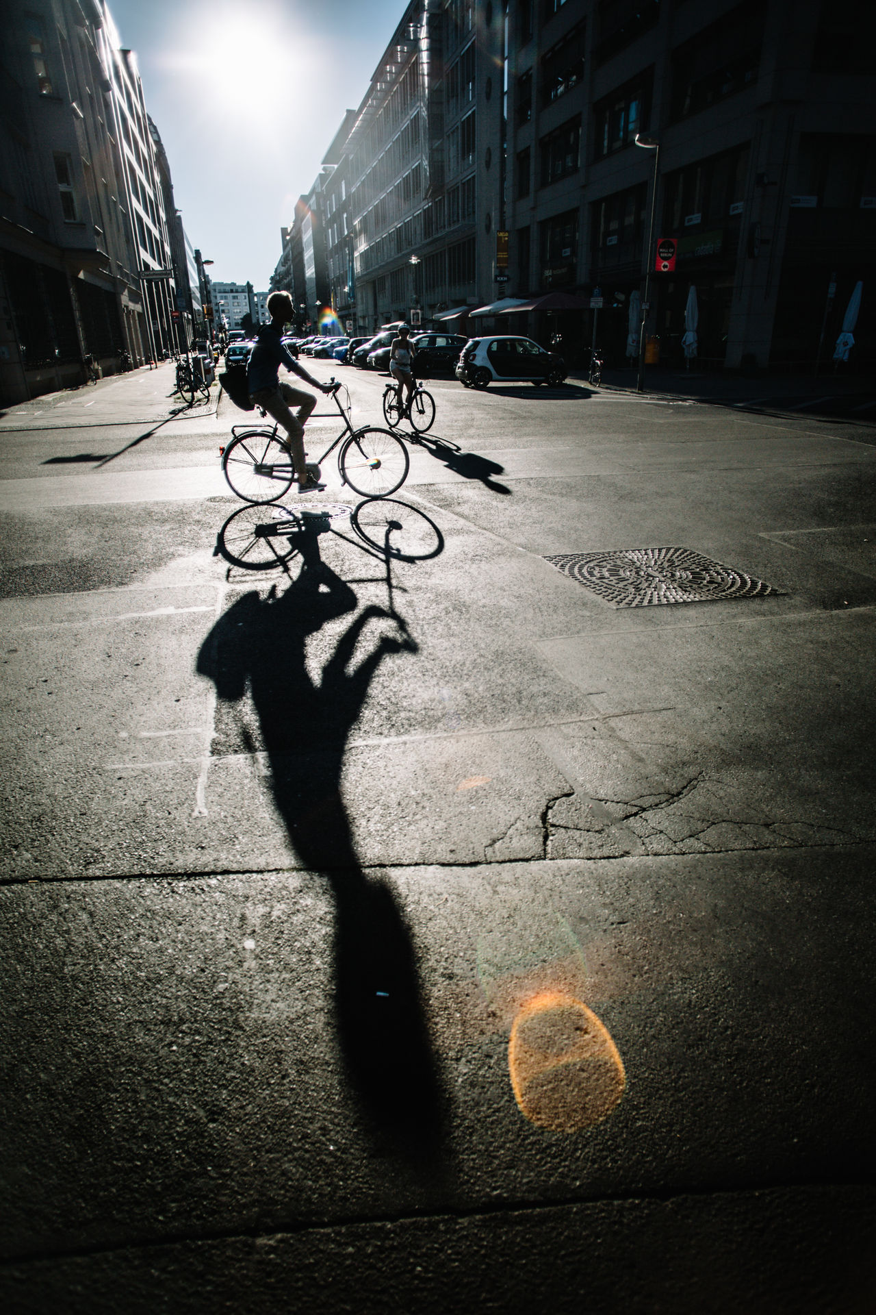 Architecture Bicycles City City Life Day Lifestyles Men Outdoors Shadow Street Sunlight The Street Photographer - 2017 EyeEm Awards The Way