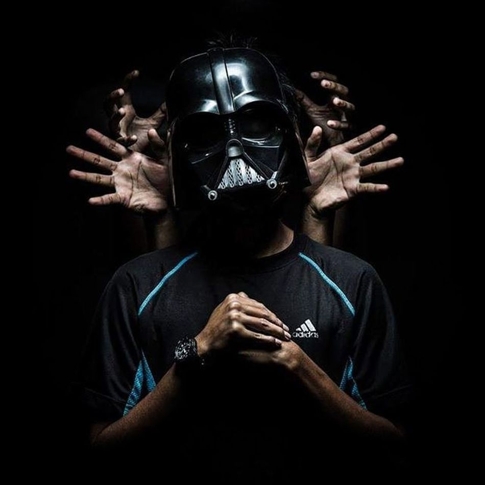"""I am your father "" // ""Den abah kau"" - @depressed_darth - Capture by @zaidi_isa Darthvader Mask Darthvadermask Starwars Imyourfather Studiolight Lighting Photographer Photography Adidasoriginals Adidas Instagram Instadaily"