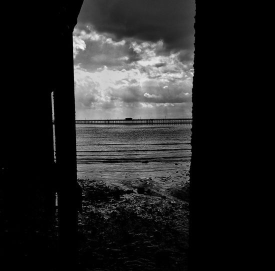 Through, and on to Southend pier. Black And White Photography Black And White Blackandwhite Southend On Sea Clouds Cloudscape Clouds And Sky Shadow Dramatic Sky This Is Britain British Seaside Southend Sea And Sky Seaside Seascape Sea Landscape Sea View