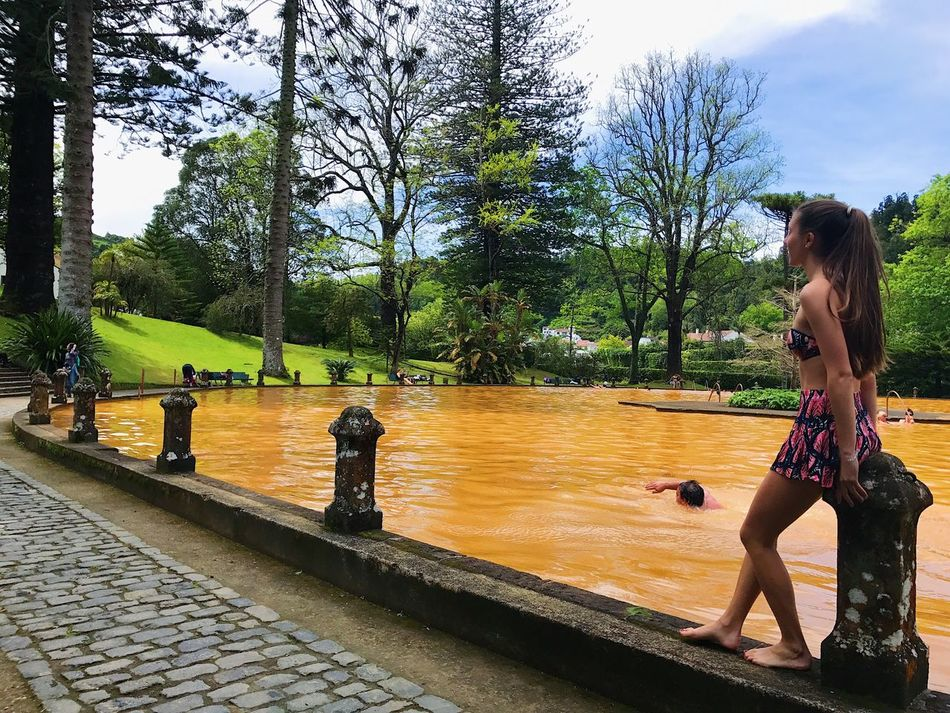 Nature Real People Tree Water Swimming Pool Day Outdoors Sky Two People Nature People Young Adult Adult Azores Azores, S. Miguel Azores Islands