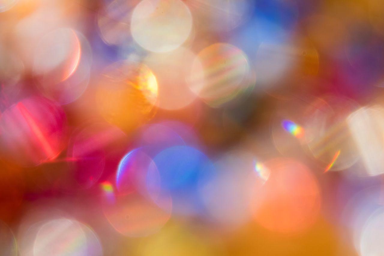 Multi Colored Illuminated Defocused Light Effect Lighting Equipment Backgrounds Close-up No People Pattern Night Abstract Indoors  なんかキラキラしたもの ✨ Something Glittery