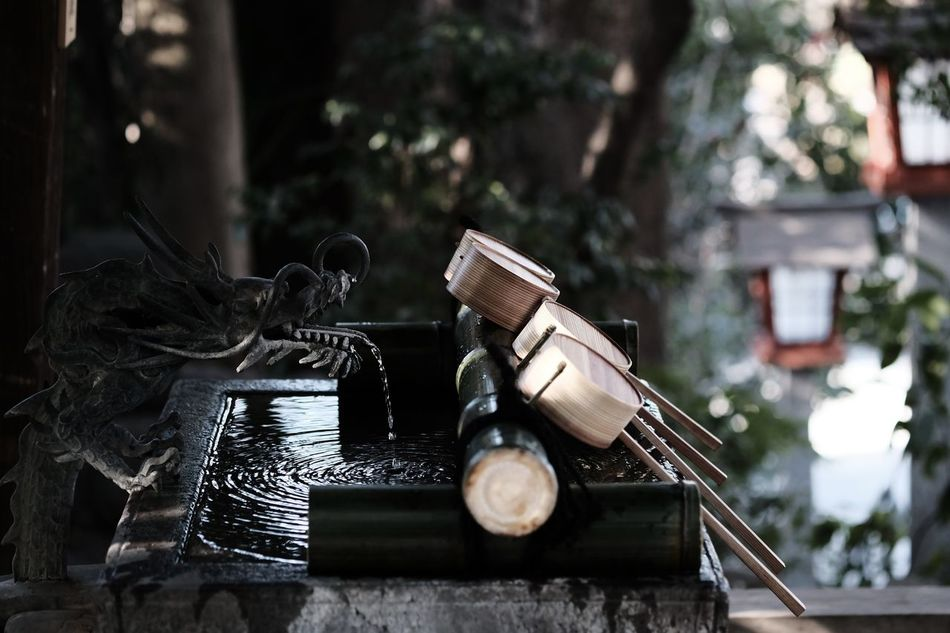 A chozuya in a Shinto shrine, where you purify yourself before meeting the God. Bamboo Day Dragon Drop Faucet Japan Ladle Lantern Leaf New Year New Year Around The World No People Old-fashioned Rippled Shinto Shinto Shrine Tokyo Water Architecture Culture Shrine Of Japan Kunitachi Art Is Everywhere