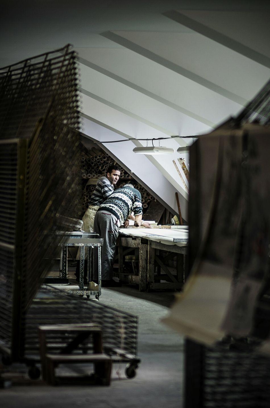 Collected Community Wallpaper Working Work Handmade Manufacturing Manufacturer Workshop France