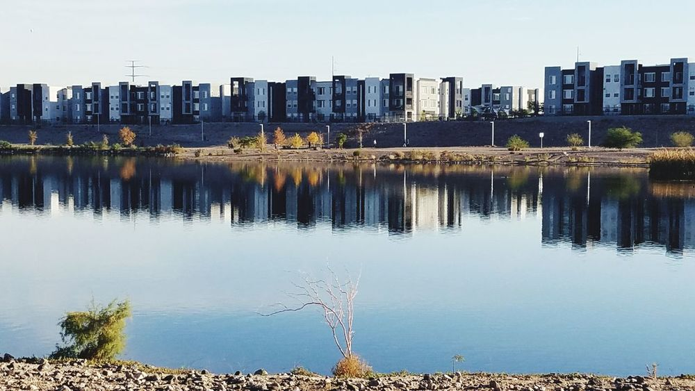 Reflection Water Lake Outdoors