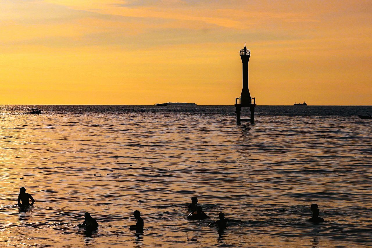 Silhouette by golden sunset... Landscape Humaninterest Photography Wonderfulindonesia