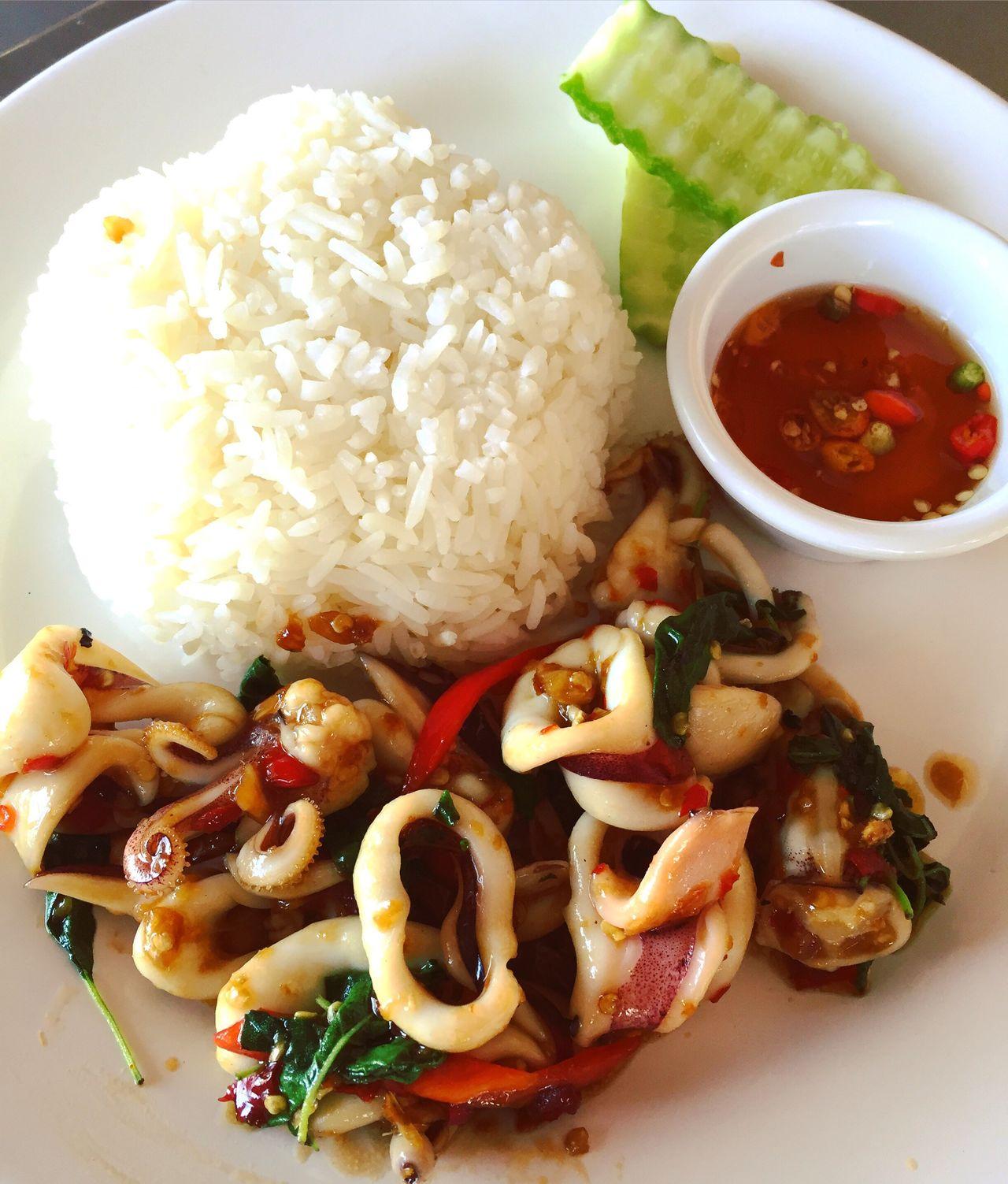 Yummy Delicious Foodporn Foodstagram Foodphotography Food Yummyinmytummy Tasty Foodoftheday Spicy Food Thaistyle Thai Food Squid Stirfriedinhotbasil Todiefor LetsEat Hotandspicy MadetoOrder