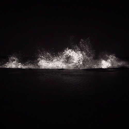 Waves Speaks To you - Low Key Photograph Blackandwhite