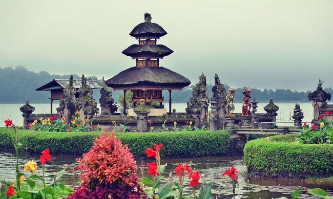 Architecture Architecture Bali Balinese Balinese Culture Flower Peaceful Place Of Worship Sacred Sacred Places Scenics Temple Tranquil Scene Travel Travel Destinations