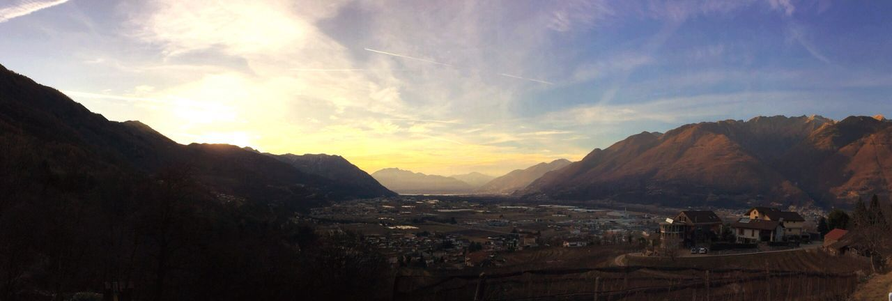 Mountain Sky Beauty In Nature No People Scenics Outdoors Cloud - Sky Sunset Ticino IPhoneography Tessin Switzerland Landscape Panoramic Photography Panorama EyeEm Best Shots EyeEm Best Shots - Landscape